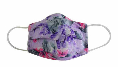 Flower Purple Fabric Face Mask (Adult/Child)