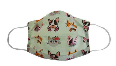 Dog/Cat Fabric Face Mask (Adult)