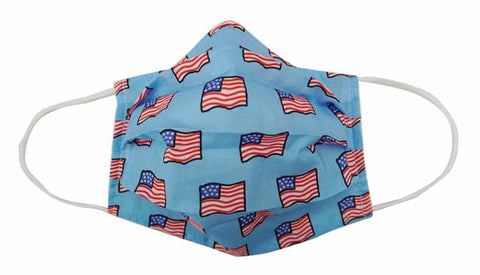 USA flag Fabric Face Mask (Adult/Child) - Popatu pageant and easter petti dress