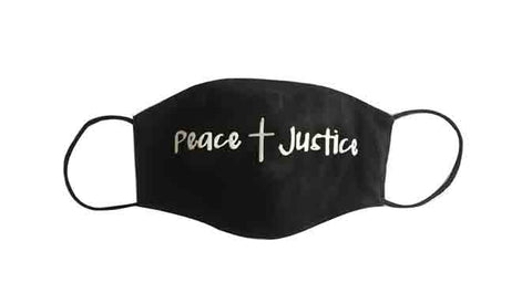 Peace/Justice Fabric Face Mask (Adult)