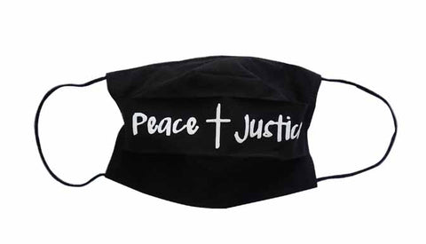 Peace/Justice Fabric Face Mask (Adult/Child)