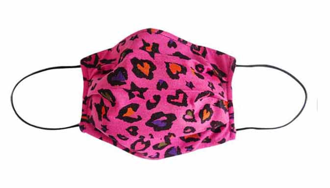 Hotpink Leopard Fabric Face Mask (Adult/Child)