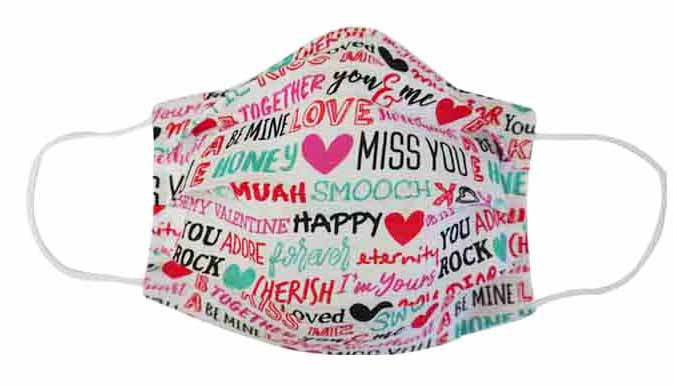 Valentine Miss You Fabric Face Mask (Adult/Child)