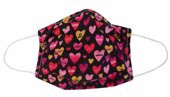 Valentine heart Fabric Face Mask (Adult/Child)
