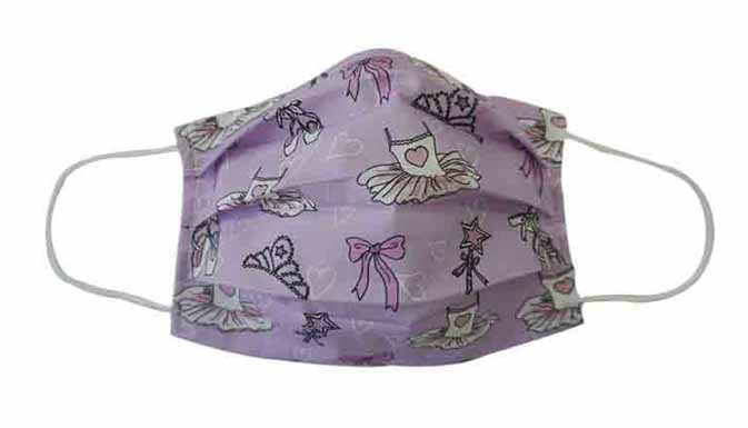 Purple Ballet Fabric Face Mask (Adult/Child)