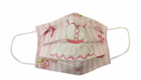 PInk Ballet Dance Fabric Face Mask (Adult/Child)