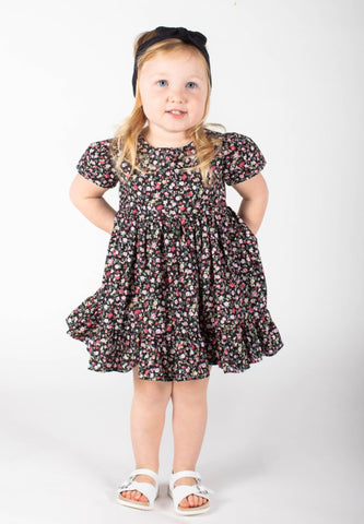 Baby Girls Floral Cap Sleve Dress