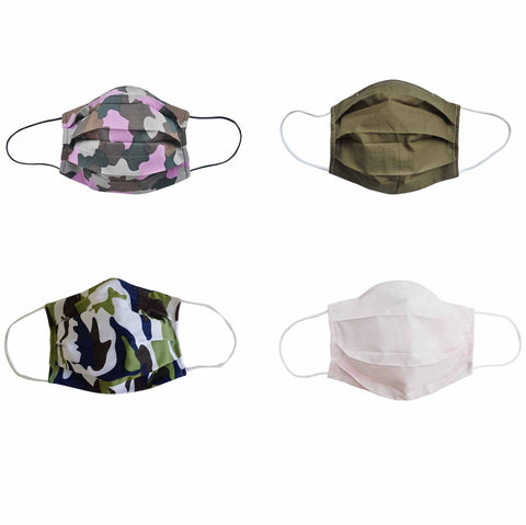 Camouflage Fabric Face Mask 4pc set - Popatu pageant and easter petti dress
