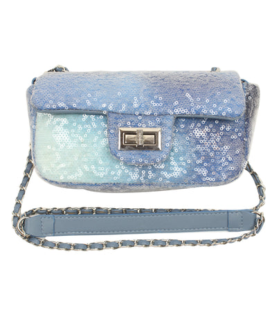 Popatu Blue Sequin Purse
