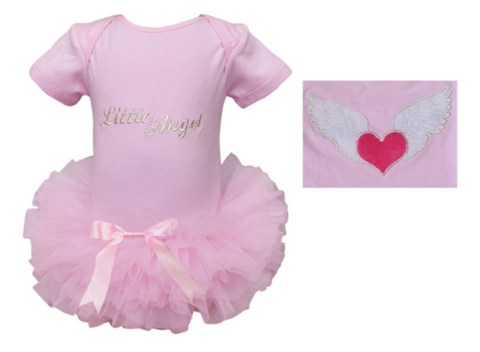 Popatu Baby Tutu Bodysuit Angel - Popatu pageant and easter petti dress