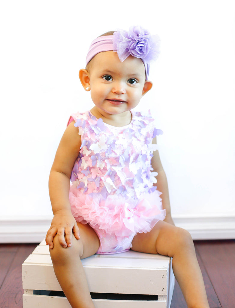 Popatu Butterfly Bodysuit with Ruffle Tutu. - Popatu pageant and easter petti dress