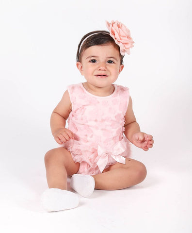 Popatu Mini Flower Ruffle Bodysuit - Popatu pageant and easter petti dress