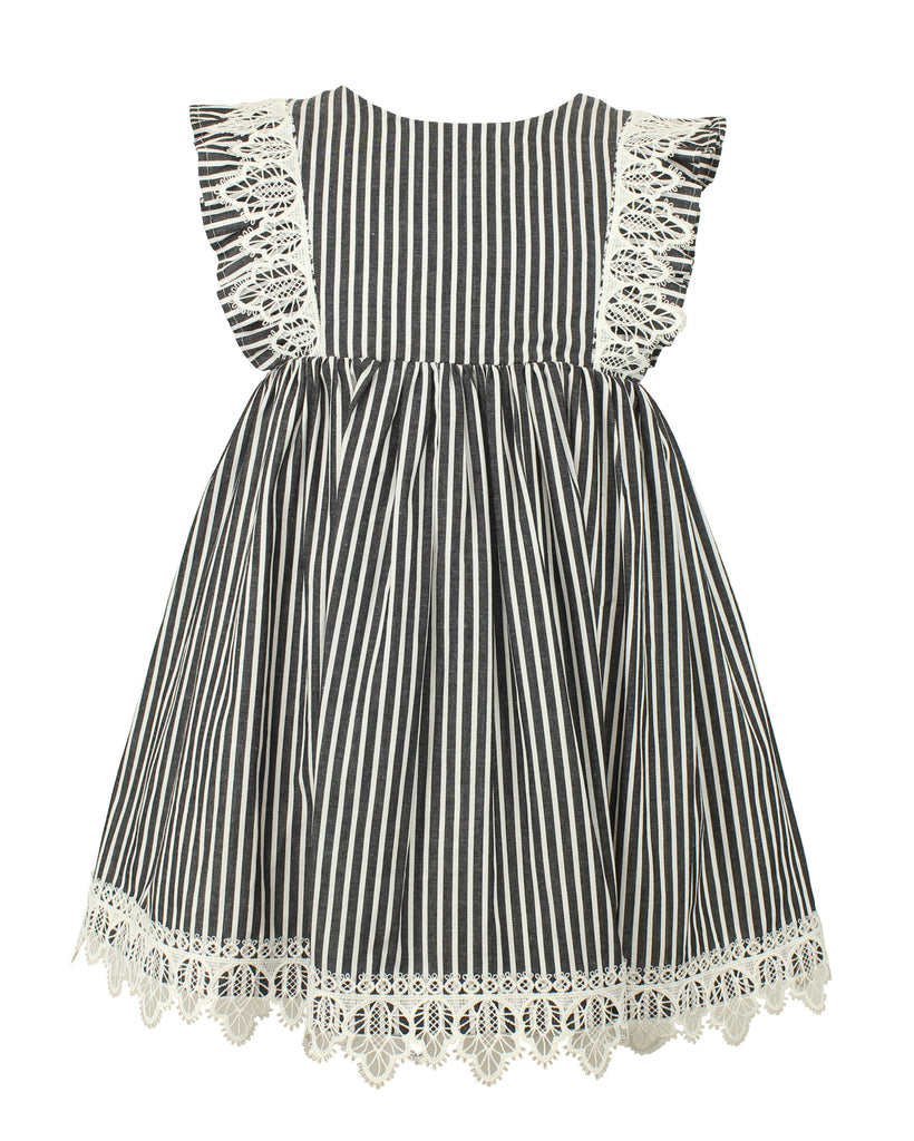 Baby Girl's Black and White Stripe Dress