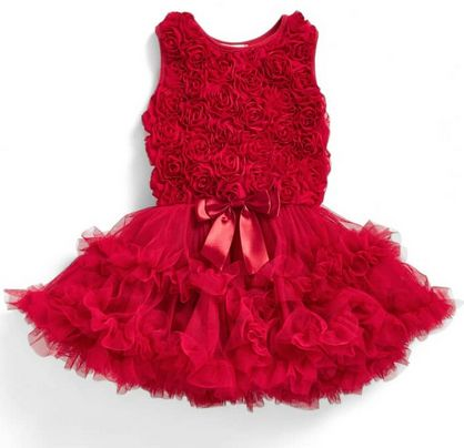 Popatu Burgundy Red Soutache Baby Girls Ruffle Dress - Popatu pageant and easter petti dress