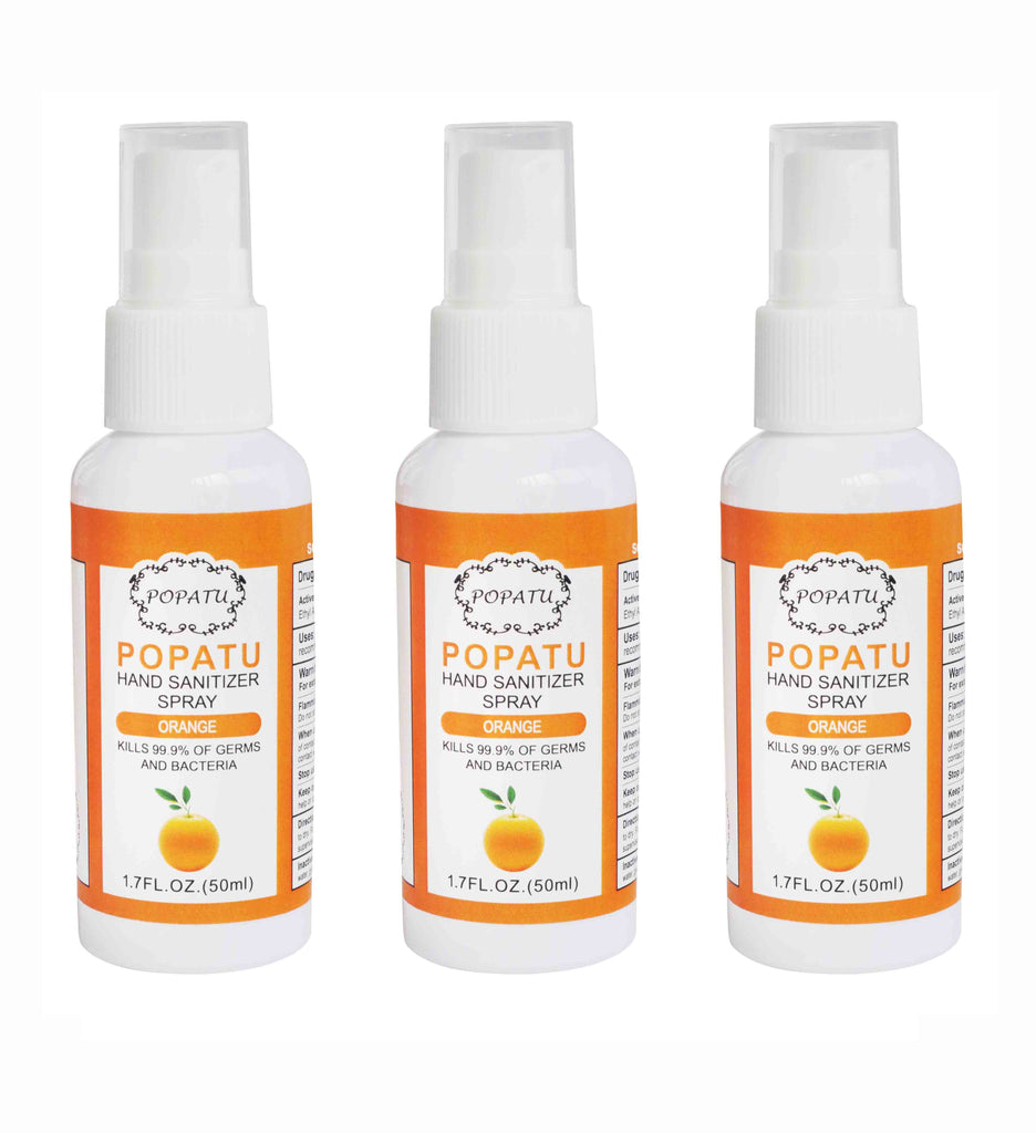 3pcs Hand Sanitizer Spray-Orange-50ml-Arrive 5/15 - Popatu pageant and easter petti dress