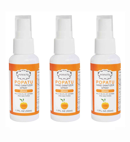 3pcs Hand Sanitizer Spray-Orange-50ml - Popatu pageant and easter petti dress