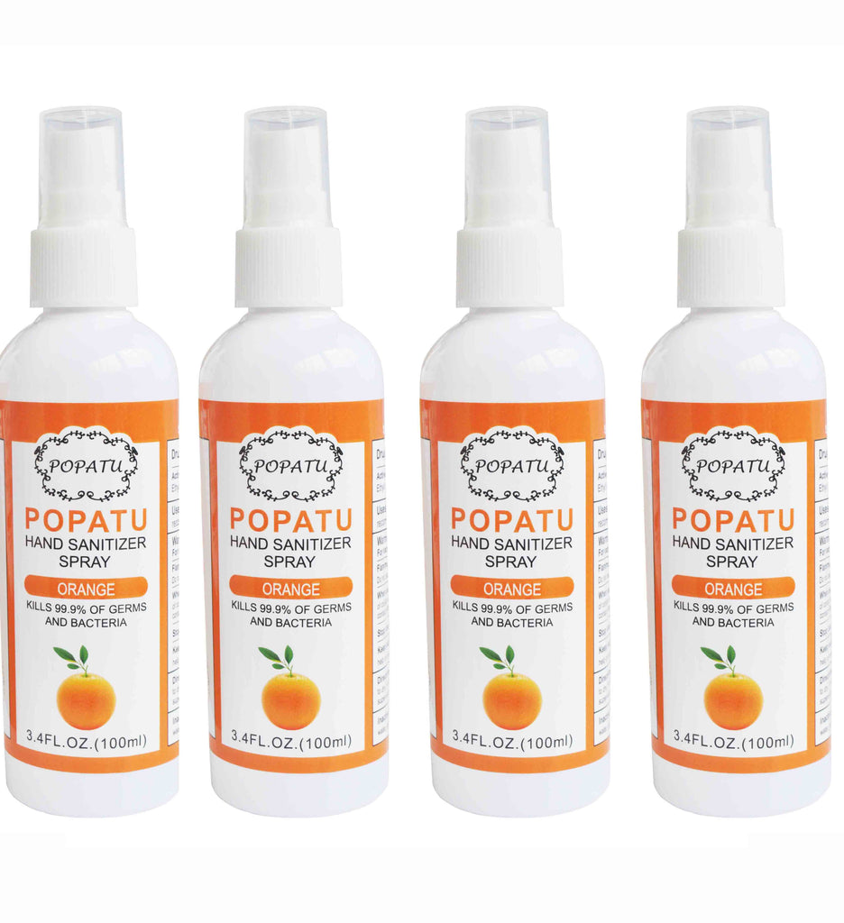 4pcs Hand Sanitizer Spray-Orange-100ml - Popatu pageant and easter petti dress