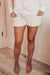 Cypress Point White/Blush Lounge Shorts