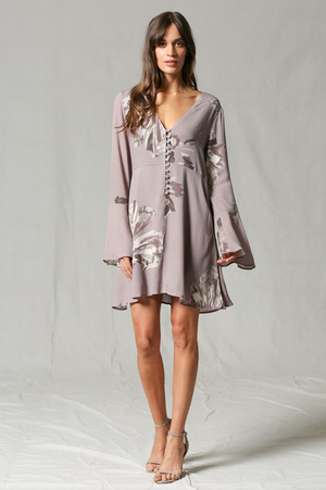 Desert Rose Long Sleeve Dress full length
