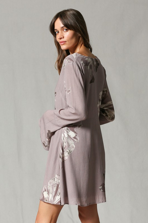 Desert Rose Long Sleeve Dress side back