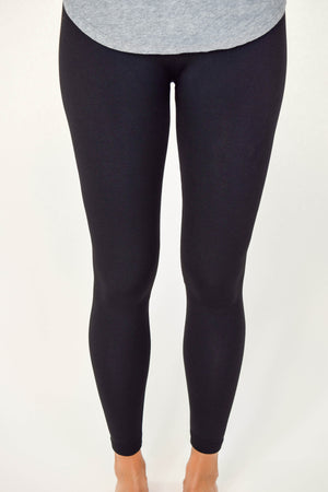 Fur Lined Leggings - Black