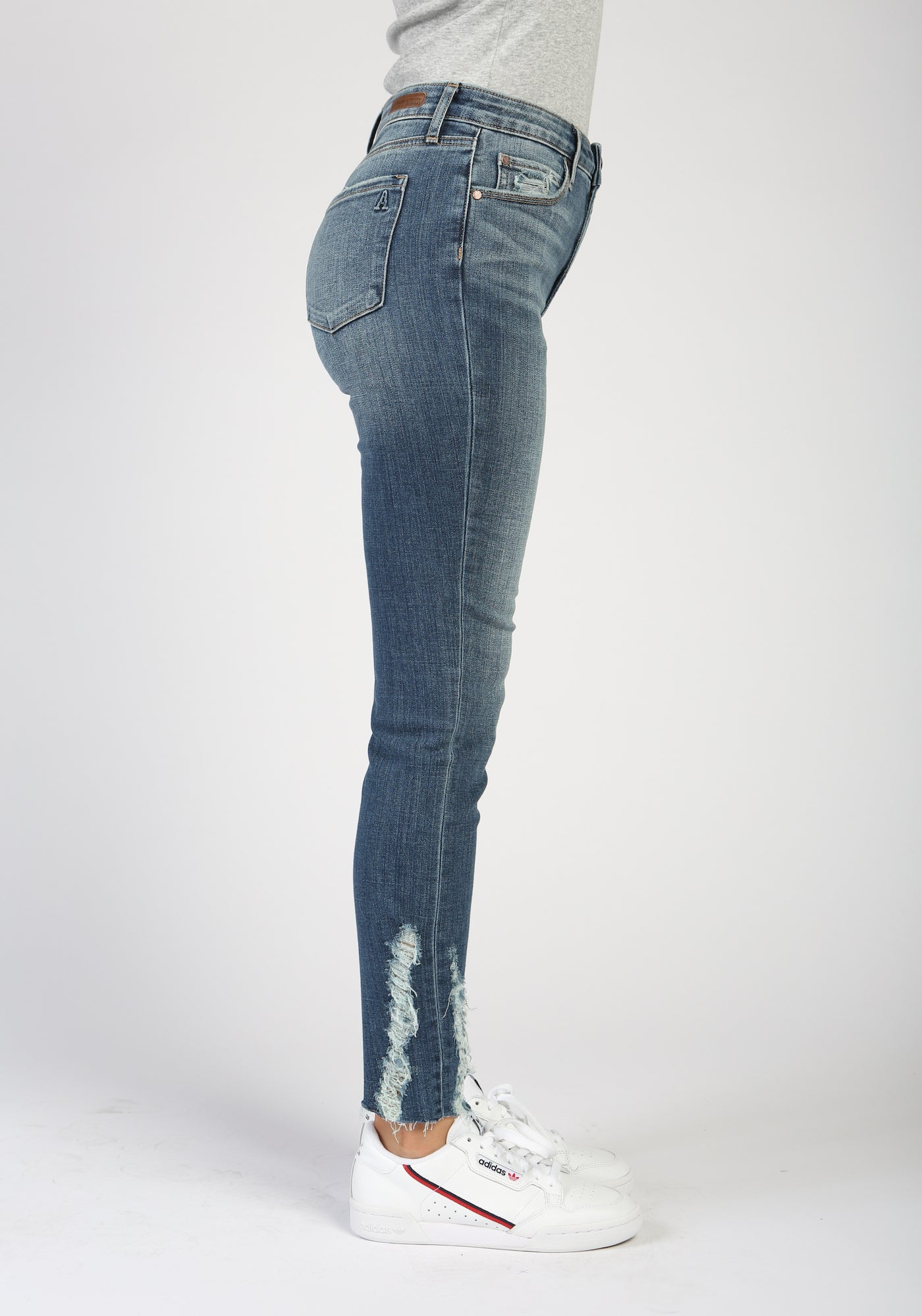Georgetown Distressed High Waisted Jeans Front