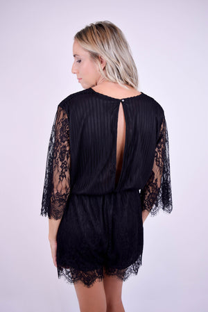 Giola Lace Romper - back