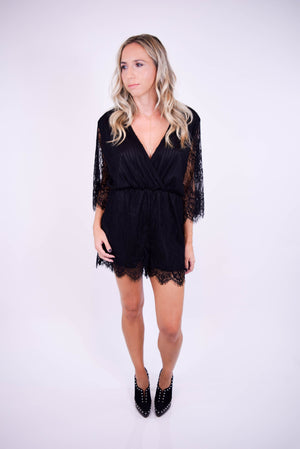 Giola Lace Romper - front