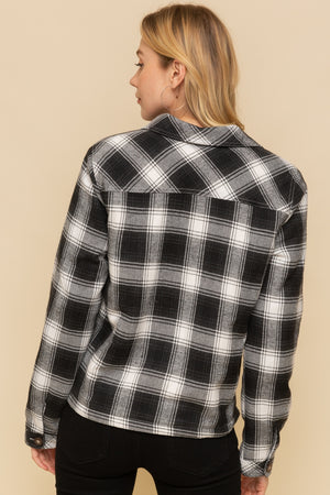 Great Falls Plaid Fur Lined Shirt Jacket