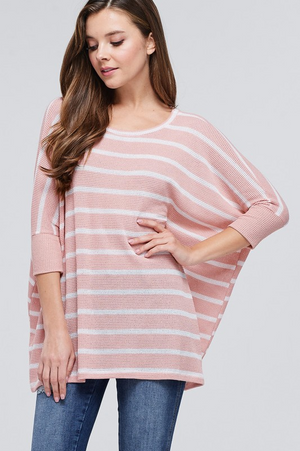 Hamptons Honey Blush Striped Top