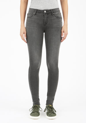 Honolulu Cut Hem Charcoal Grey Jeans