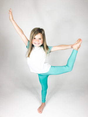 The Softest Leggings {For Kiddos} - Mint