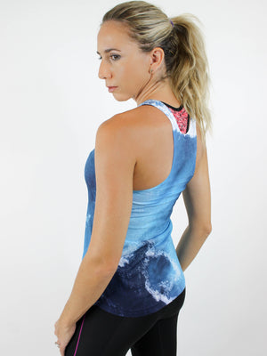 Turquoise Dreams Racerback Tank - back