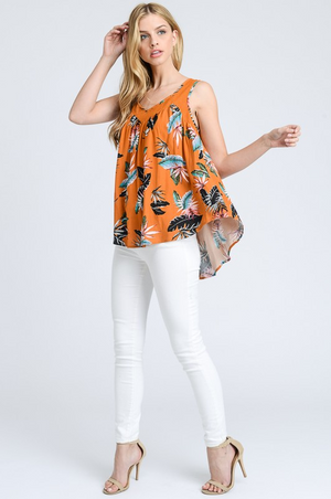 Ibiza Tropical Print Sleeveless Top profile