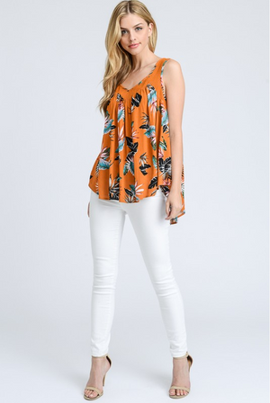 Ibiza Tropical Print Sleeveless Top style