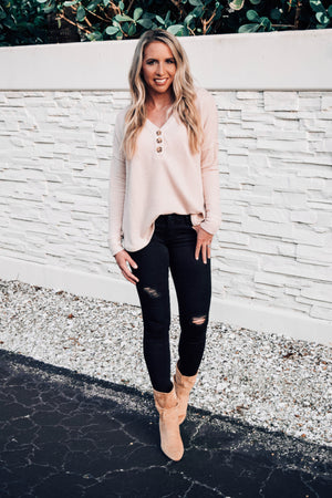 Sarah Fenton Distressed Black Jeans
