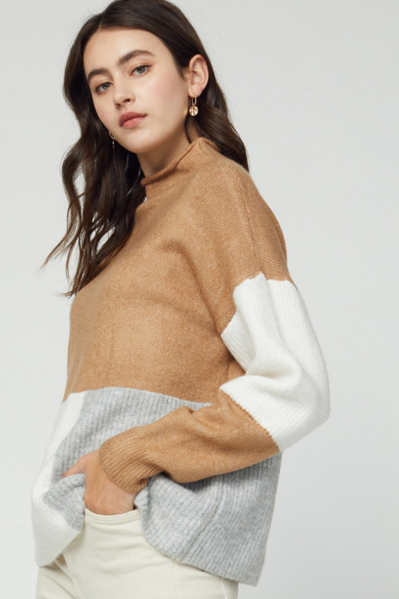 Just Block Them Colorblocked Sweater