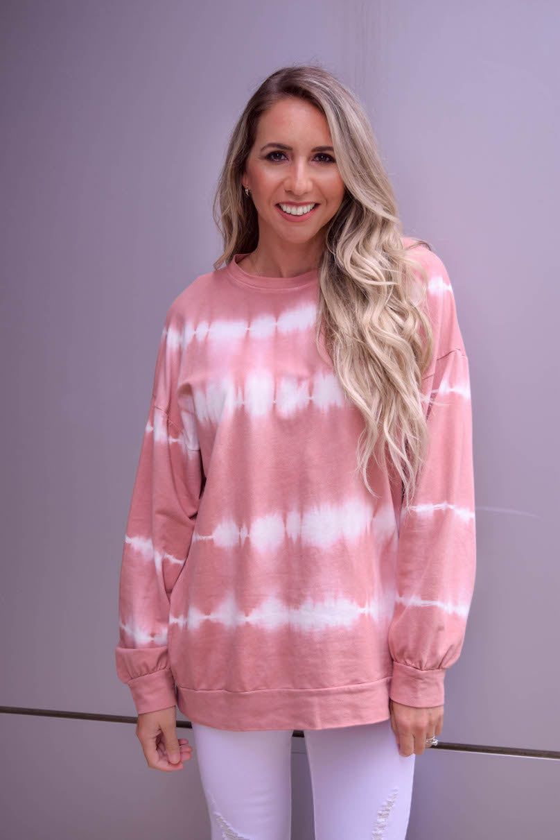 Just a Crush Mauve Tie Dye Sweatshirt