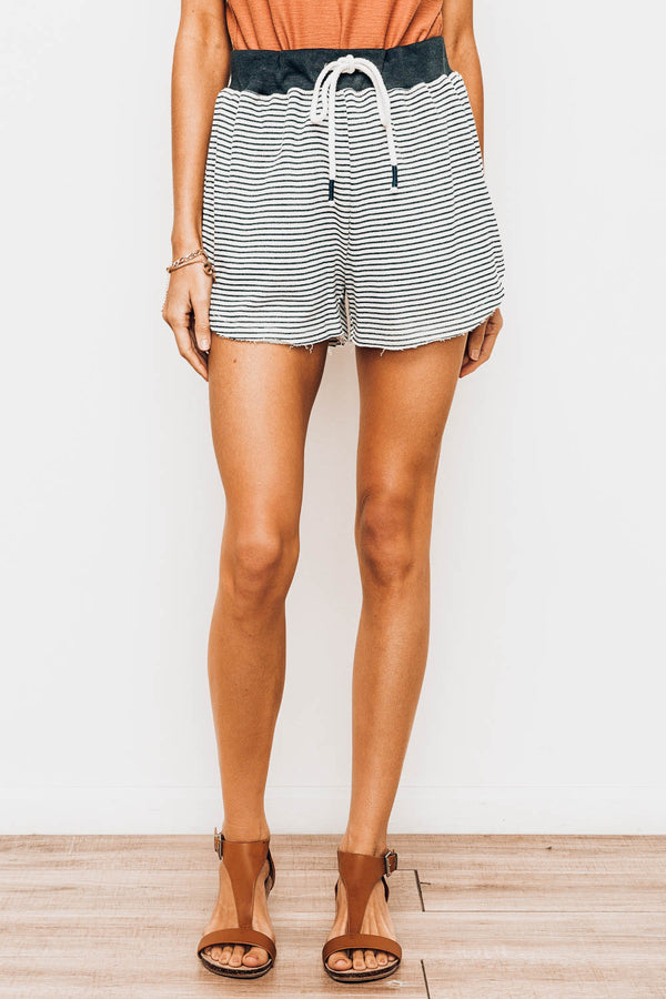 Lake Daze Striped Terry Lounge Shorts