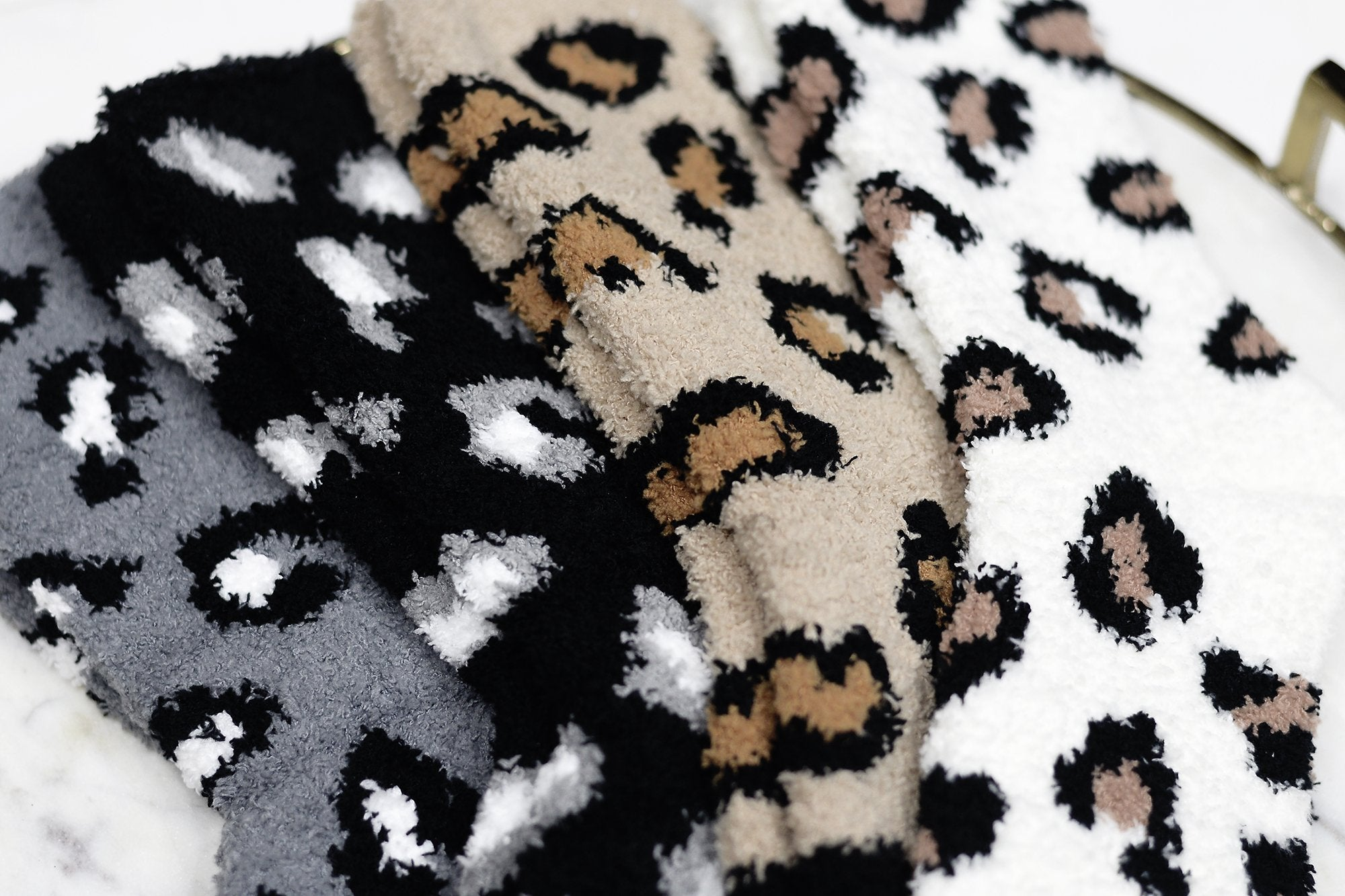 Leopard Ultra Cozy Lounge Socks