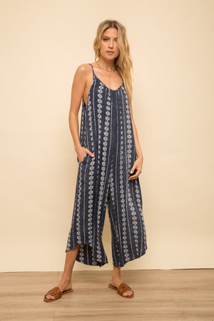 Mamacita Boho Printed Jumpsuit with Pockets