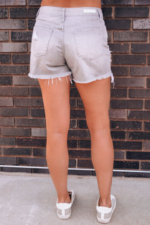 Meredith Nova High Rise Ripped Denim Shorts