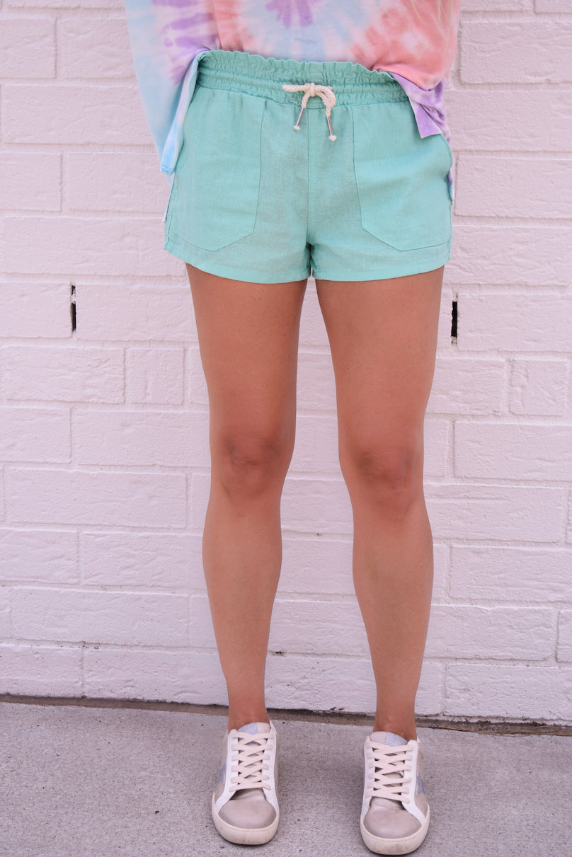 Newport Sands Drawstring Linen Shorts