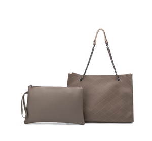 Nova Taupe Bag with Interior Pouch