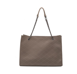 Nova Taupe Quilted Bag front