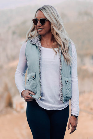Park City Sherpa Lined Reversible Vest