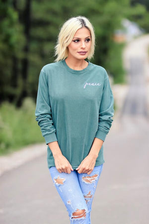 Peace and Stars Long Sleeve Tee