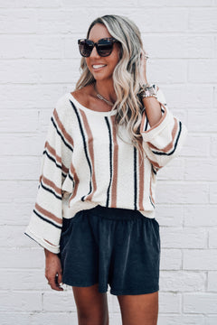 Rae Valley Striped Knit Sweater