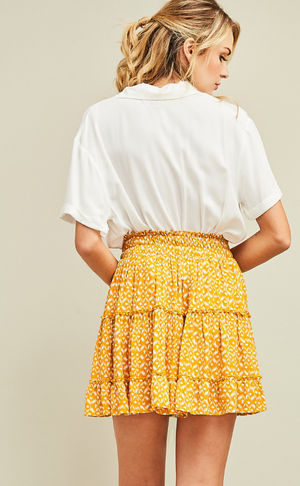 Ray of Sunshine Patterned Skirt