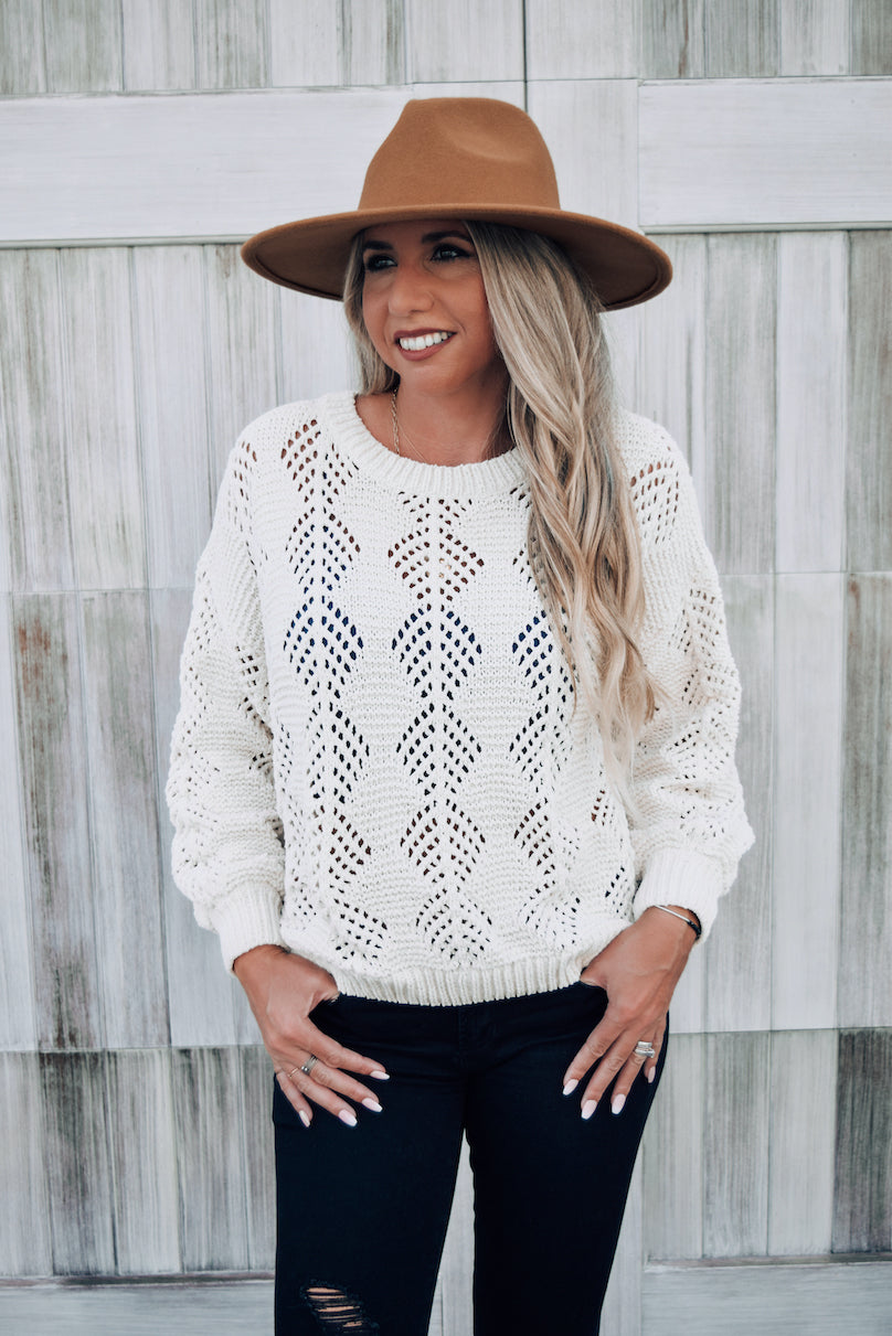 Reno Open Weave Chenille Sweater